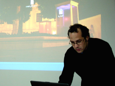 Gal lecturing at Shanghai University - Digital Arts College, 2007