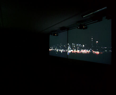 Night Pulses - Intermedia installation, 2004 - Photography by Otto Sachsinger
